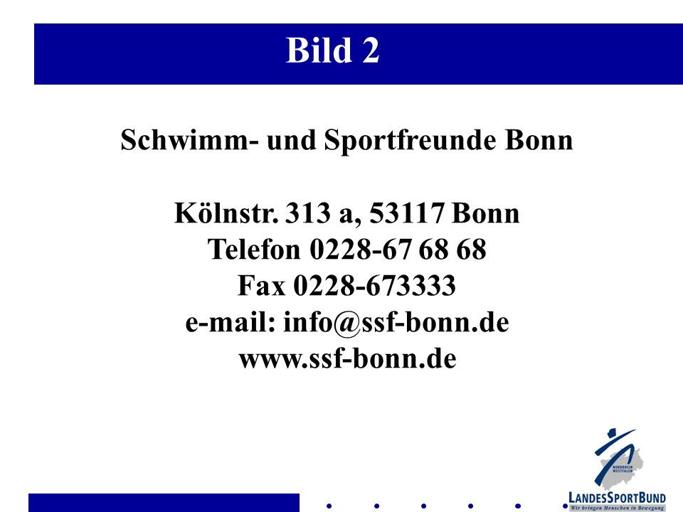 Bild 2 Schwimm- und Sportfreunde Bonn