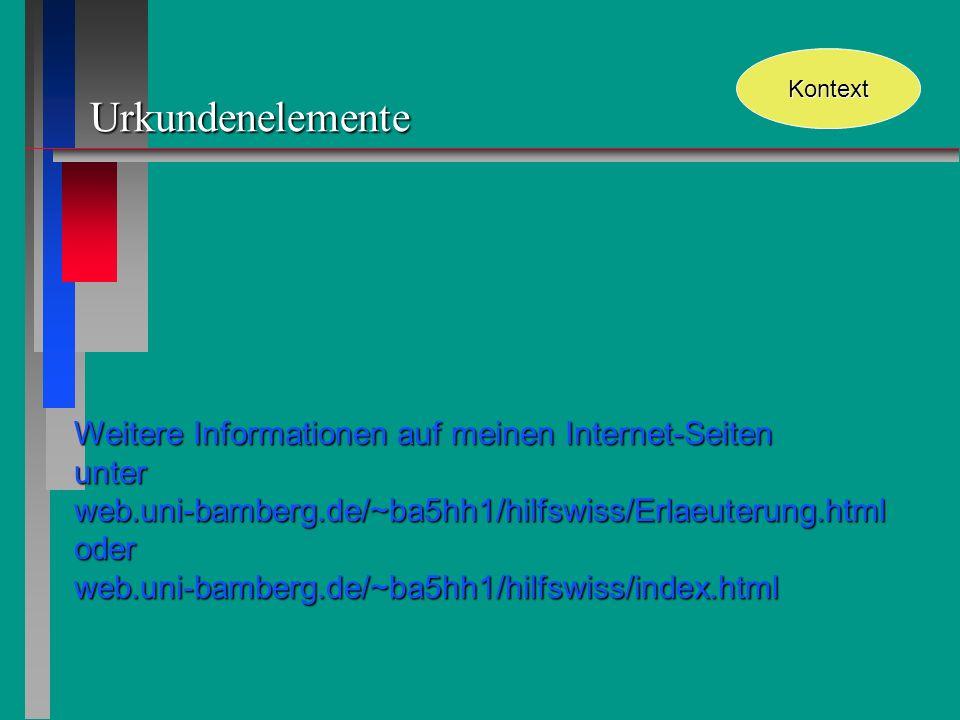 Urkundenelemente Weitere Informationen auf meinen Internet-Seiten