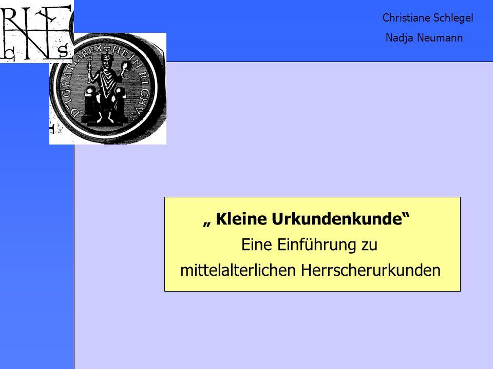 """"""" Kleine Urkundenkunde Eine Einführung zu"""