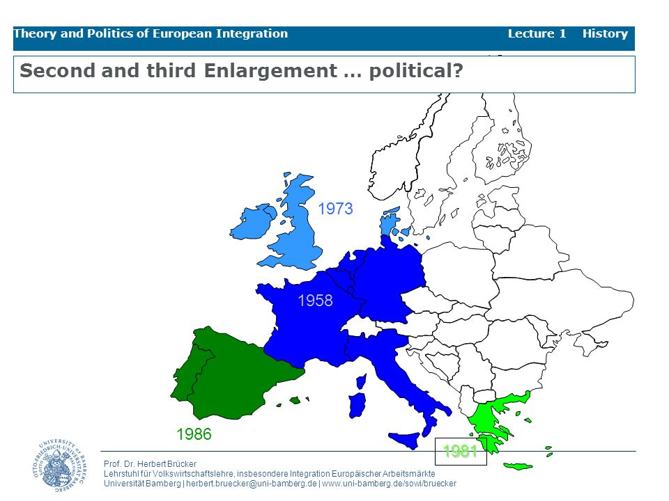 Second and third Enlargement … political