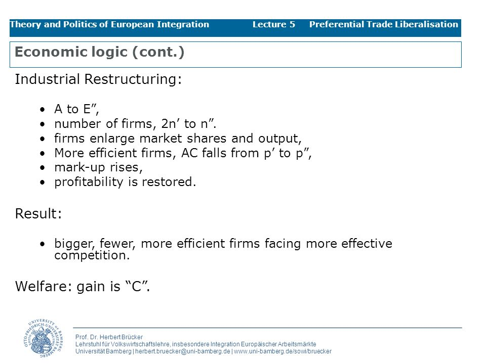 Industrial Restructuring:
