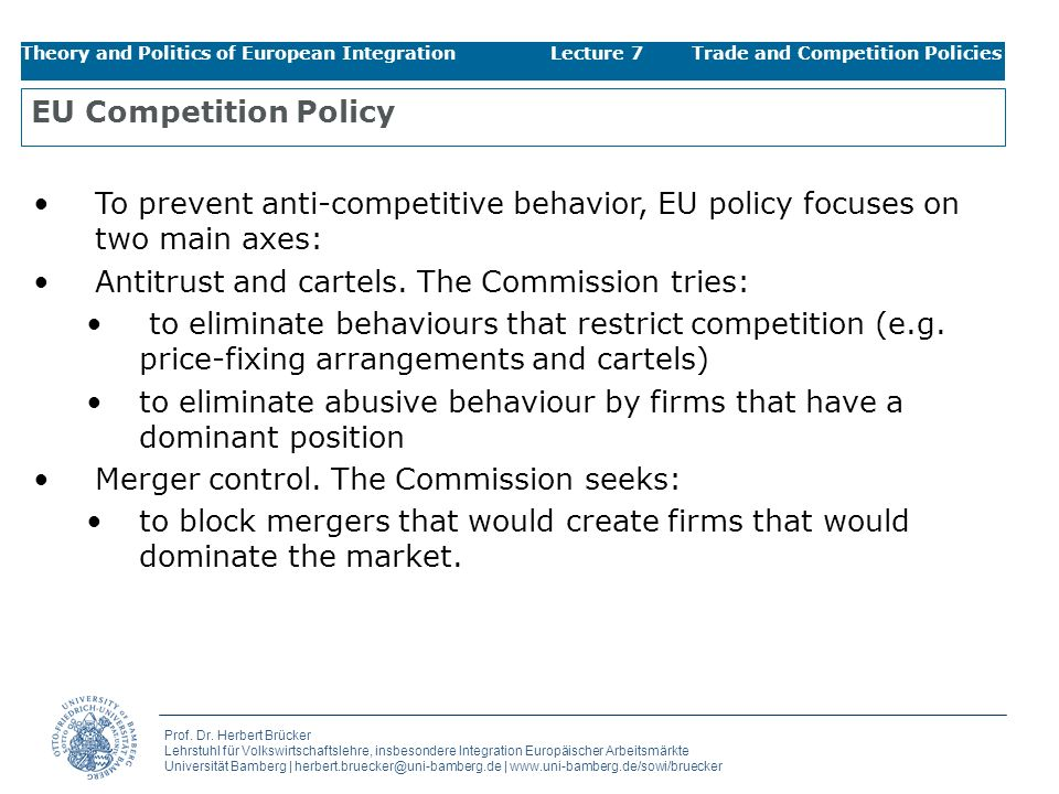 Antitrust and cartels. The Commission tries: