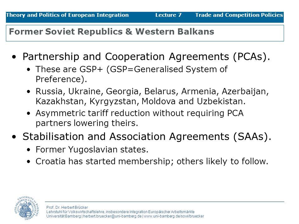 Former Soviet Republics & Western Balkans