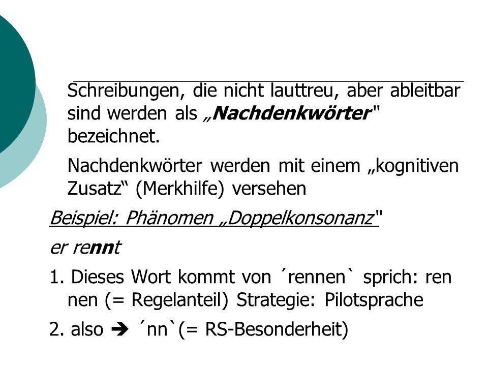 """Beispiel: Phänomen """"Doppelkonsonanz er rennt"""