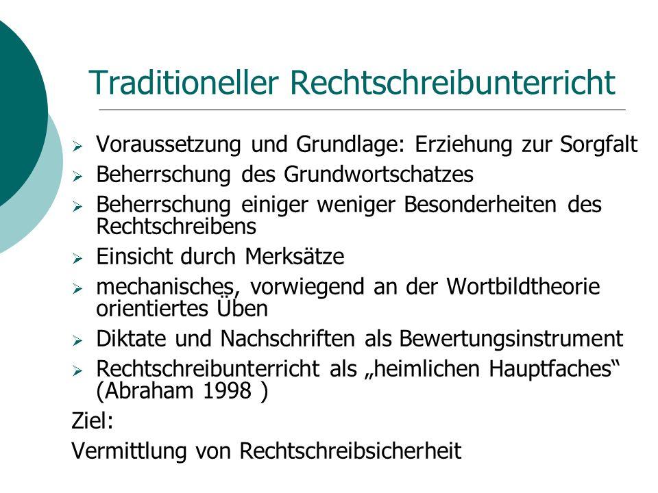 Traditioneller Rechtschreibunterricht