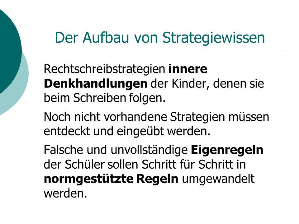 Der Aufbau von Strategiewissen