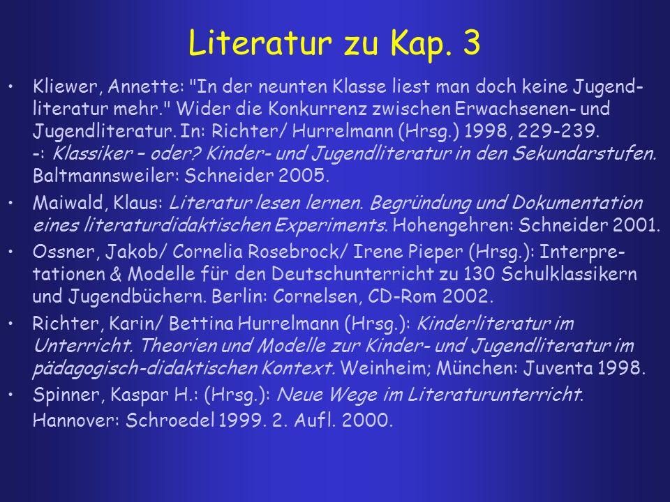 Literatur zu Kap. 3