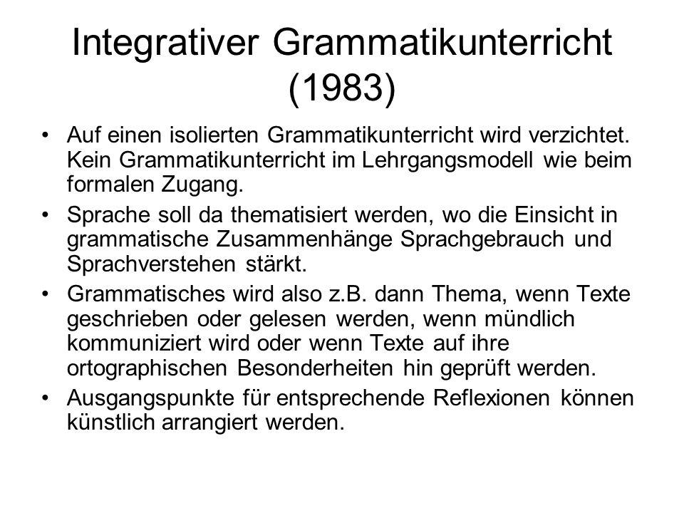 Integrativer Grammatikunterricht (1983)