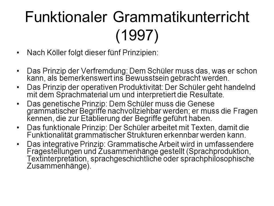 Funktionaler Grammatikunterricht (1997)