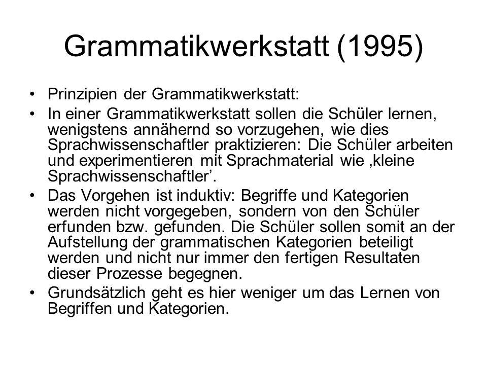 Grammatikwerkstatt (1995)