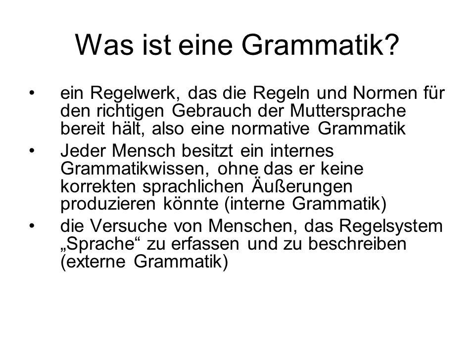 Was ist eine Grammatik