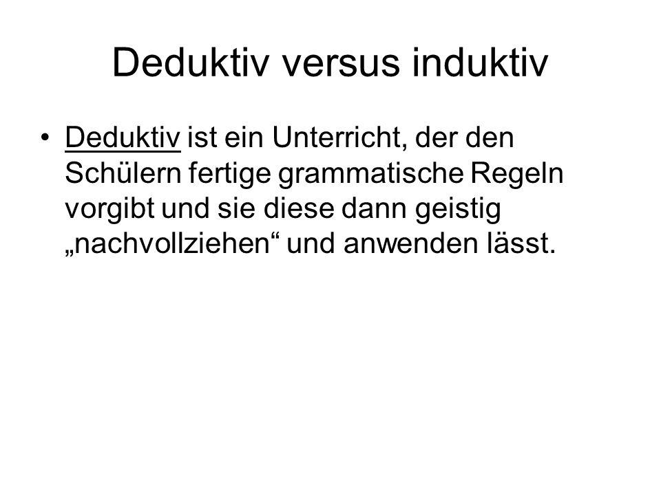 Deduktiv versus induktiv