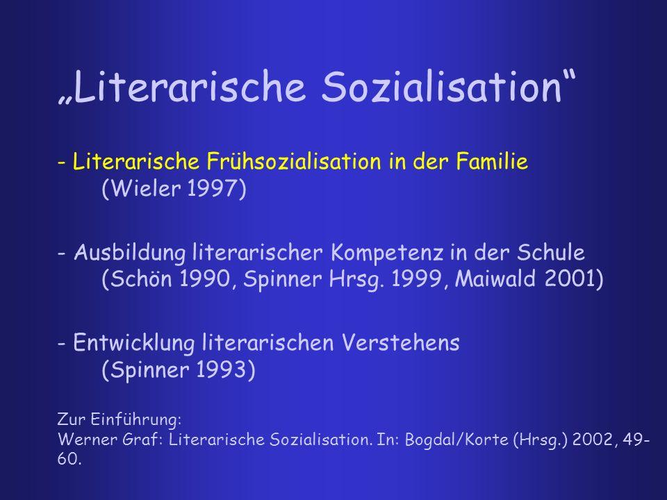 """""""Literarische Sozialisation"""