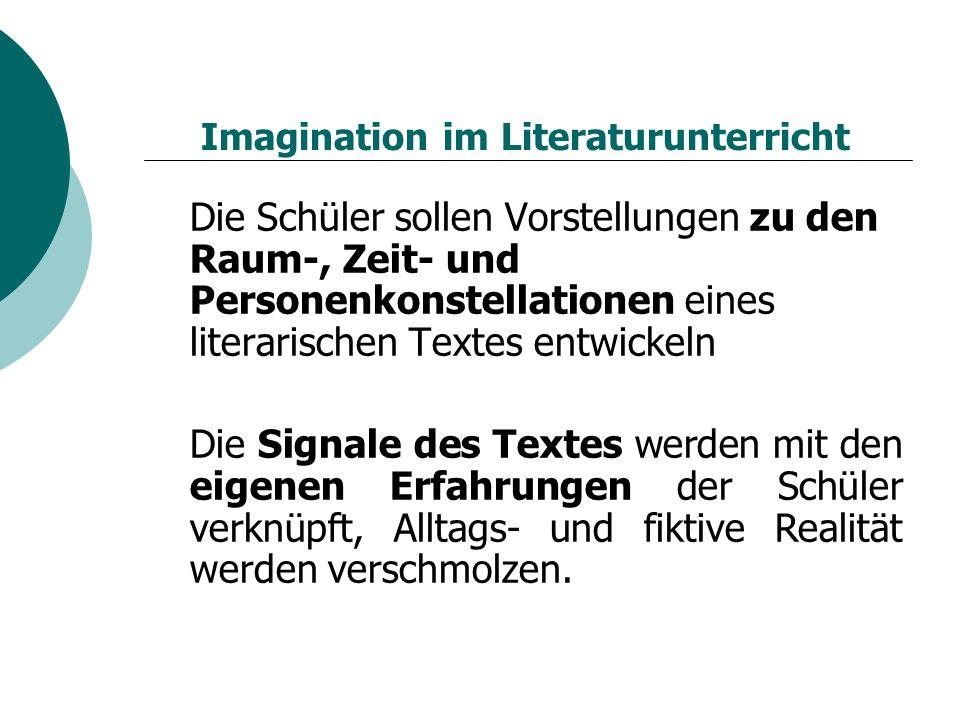 Imagination im Literaturunterricht