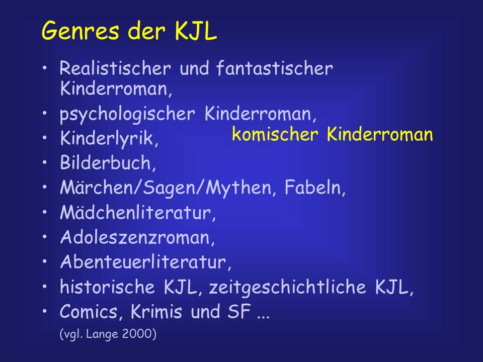 Genres der KJL Realistischer und fantastischer Kinderroman,