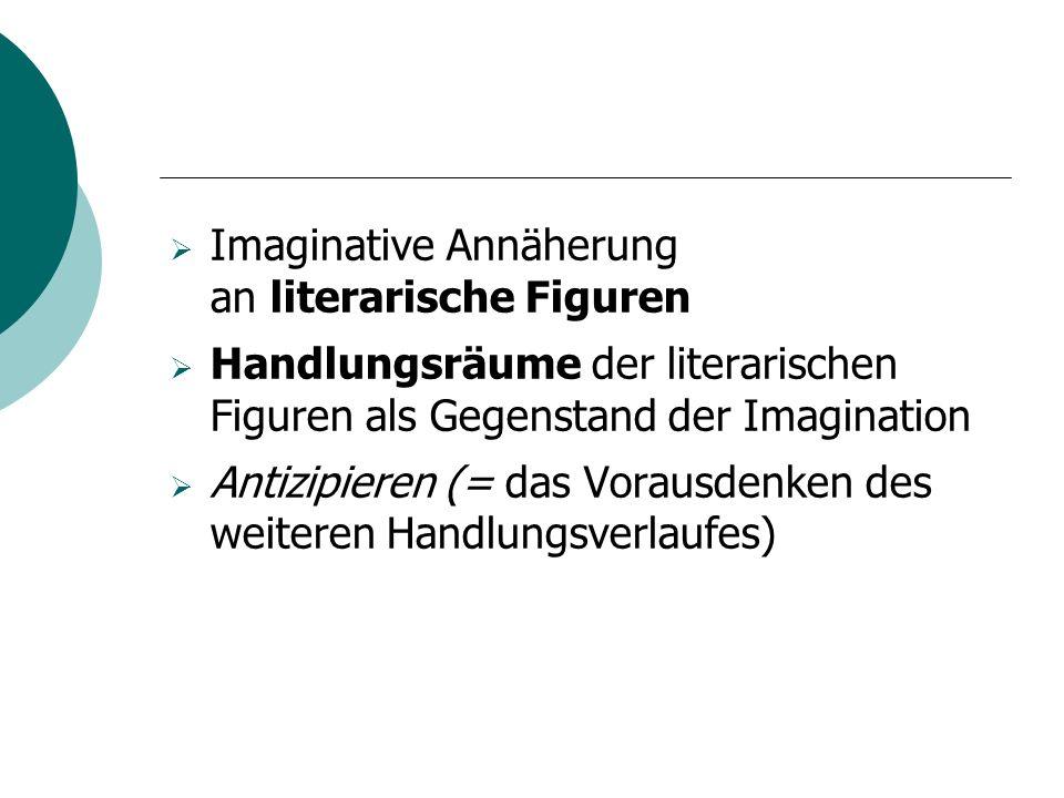Imaginative Annäherung an literarische Figuren