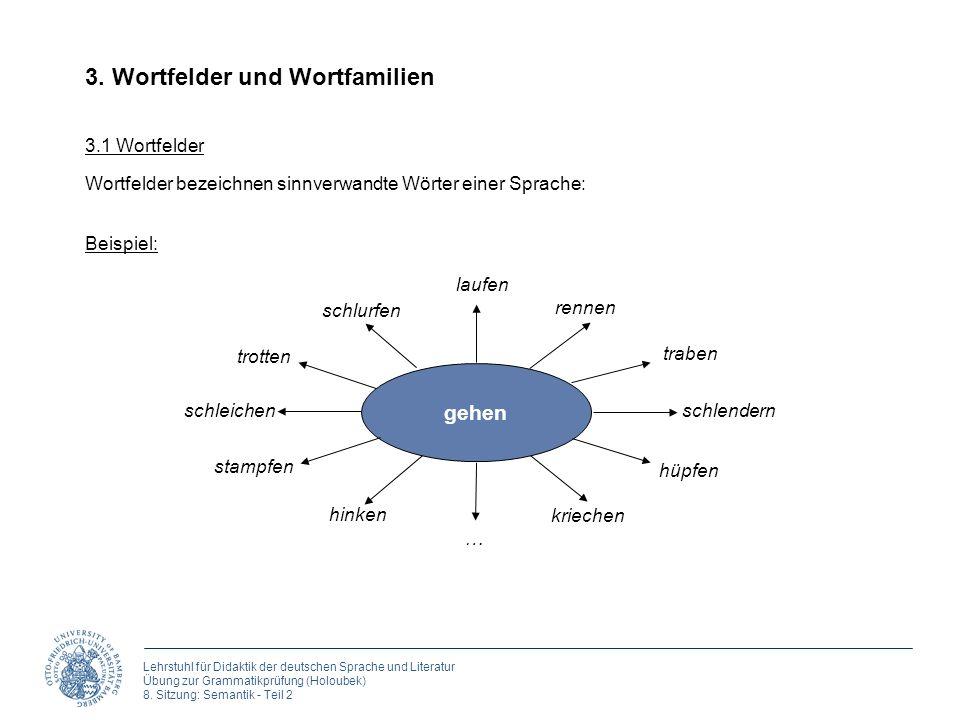 3. Wortfelder und Wortfamilien