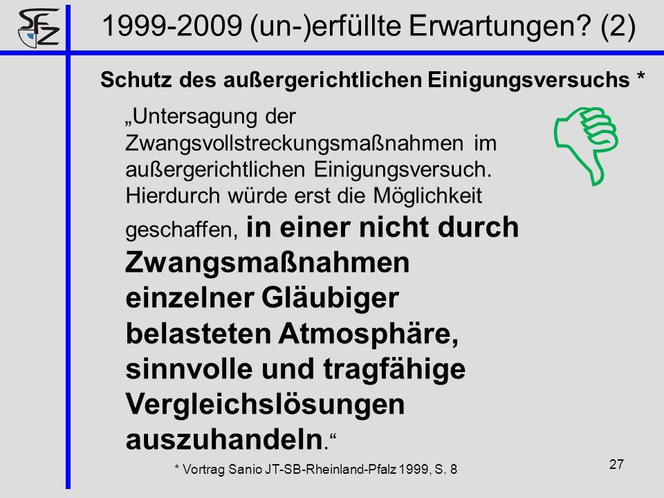 1999-2009 (un-)erfüllte Erwartungen (2)