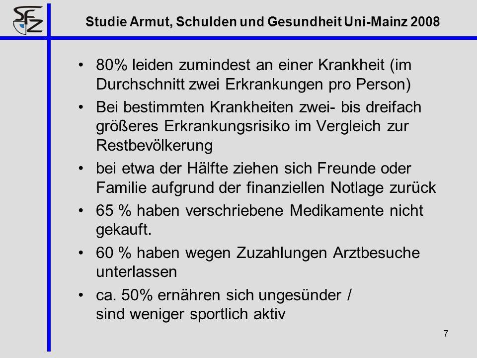Studie Armut, Schulden und Gesundheit Uni-Mainz 2008