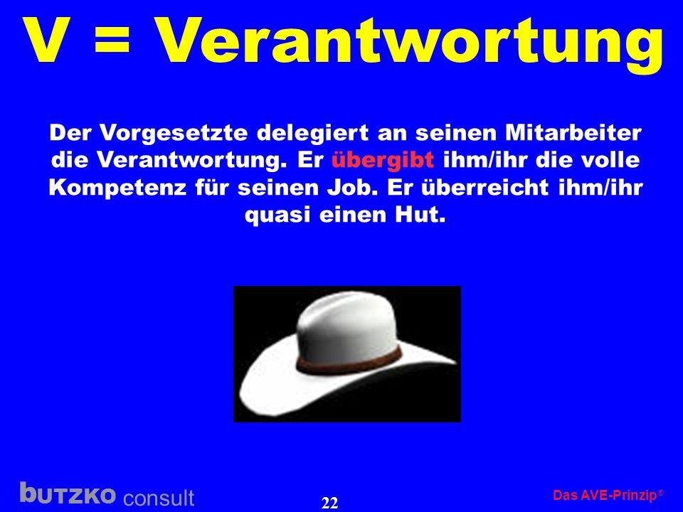 V = Verantwortung Der Vorgesetzte delegiert an seinen Mitarbeiter