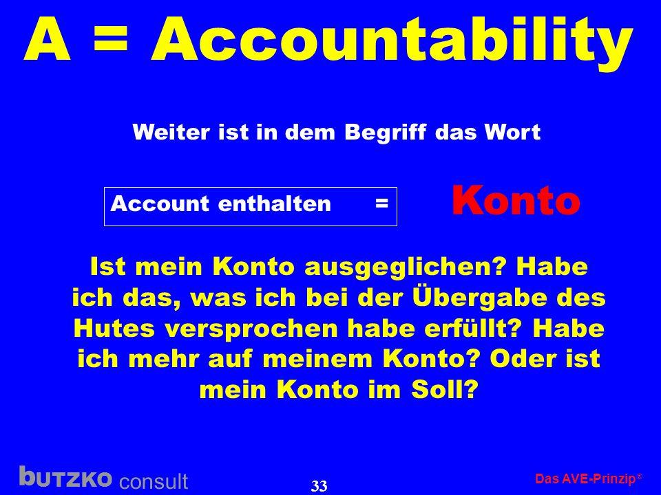 A = Accountability Konto
