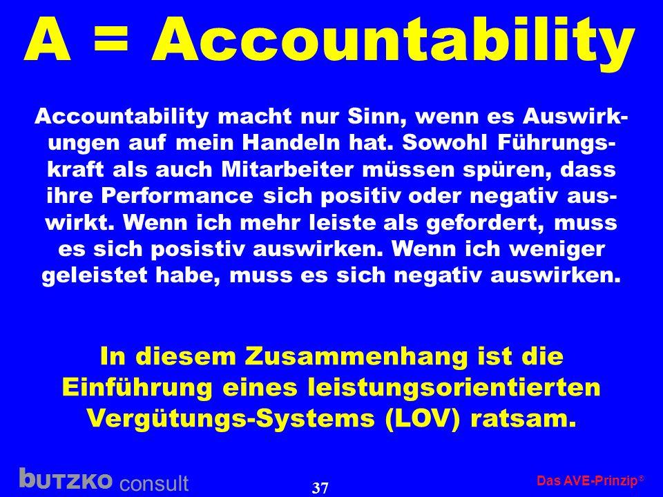 A = Accountability