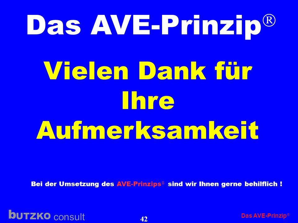 Bei der Umsetzung des AVE-Prinzips sind wir Ihnen gerne behilflich !