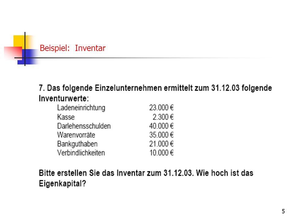 Beispiel: Inventar