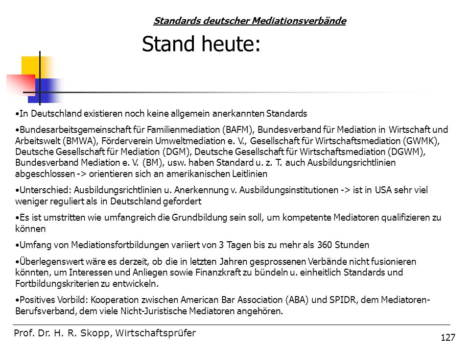 Standards deutscher Mediationsverbände