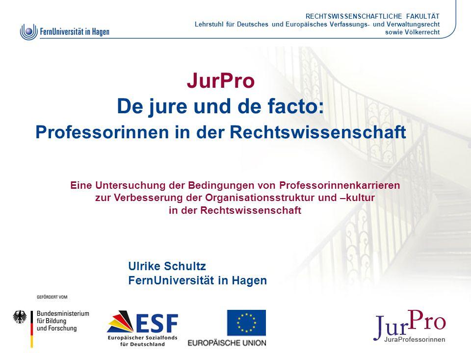 JurPro De jure und de facto: Professorinnen in der Rechtswissenschaft