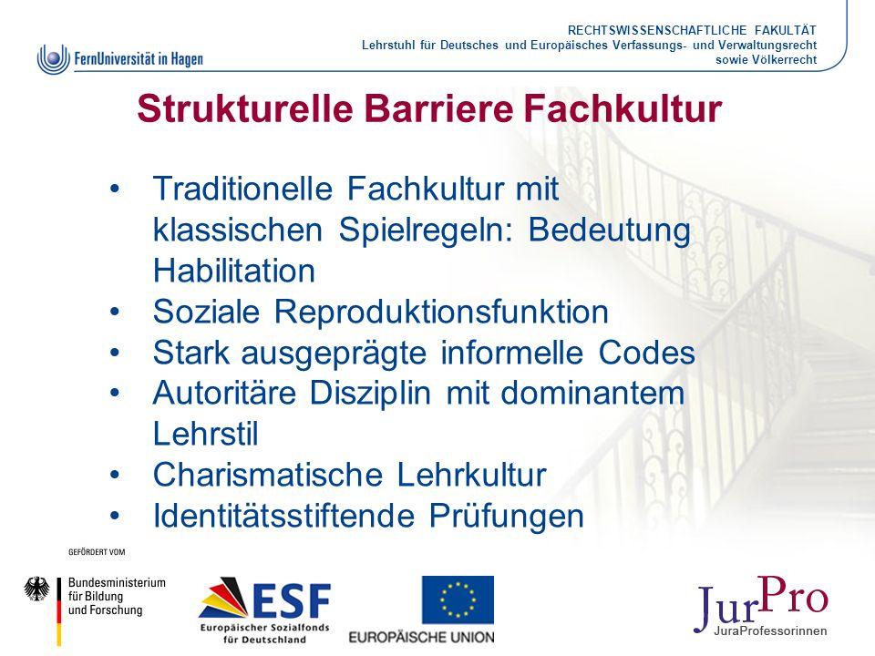 Strukturelle Barriere Fachkultur