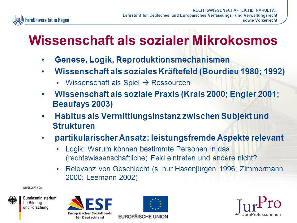 Wissenschaft als sozialer Mikrokosmos