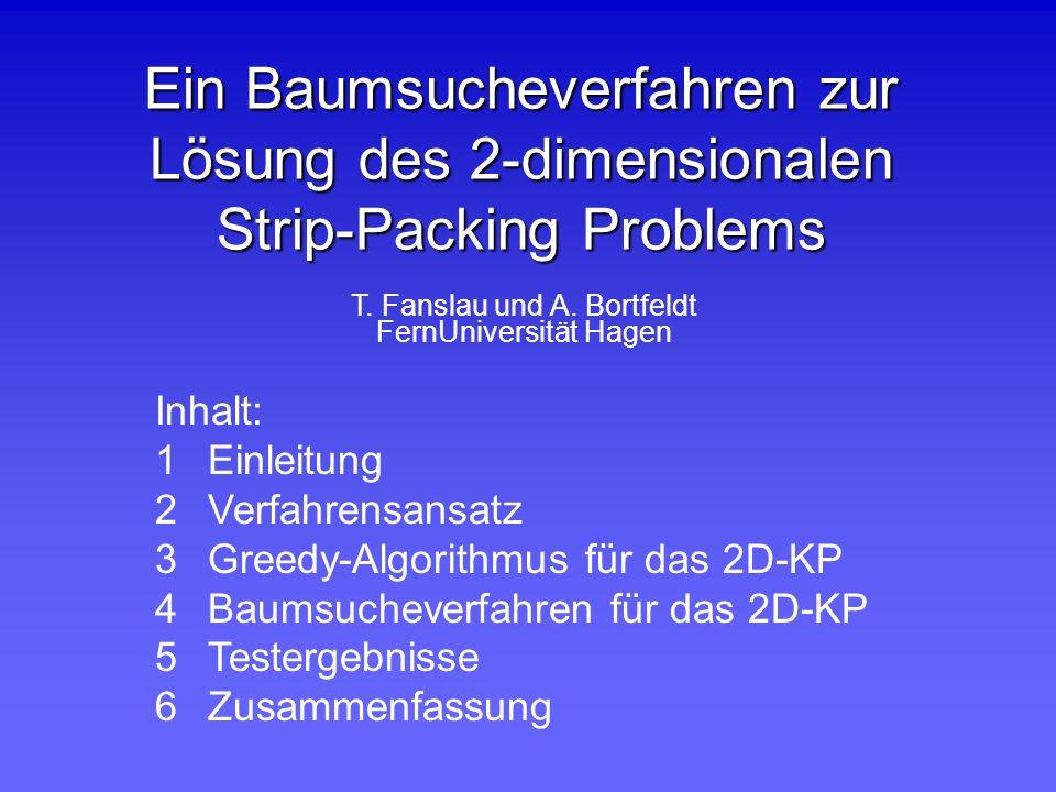 Ein Baumsucheverfahren zur Lösung des 2-dimensionalen Strip-Packing Problems
