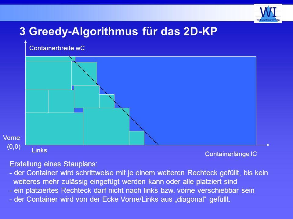 3 Greedy-Algorithmus für das 2D-KP