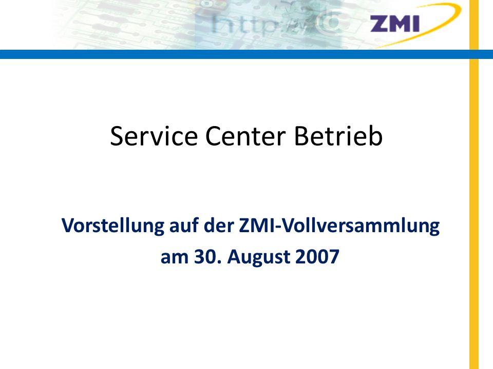 Service Center Betrieb