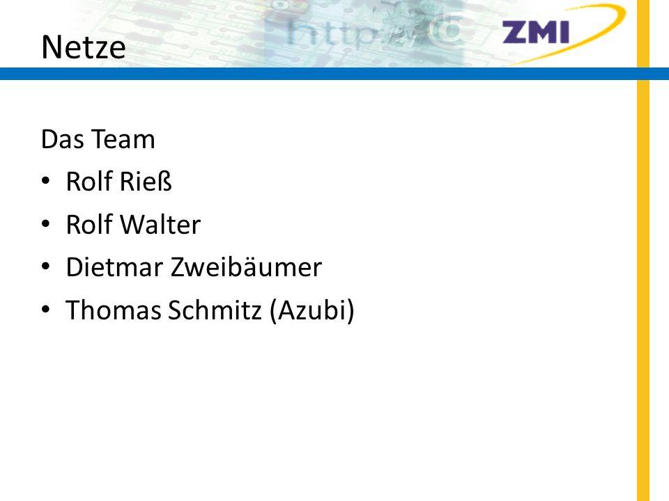 Netze Das Team Rolf Rieß Rolf Walter Dietmar Zweibäumer