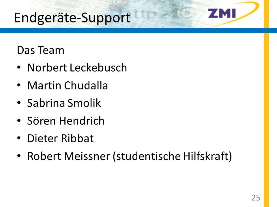 Endgeräte-Support Das Team Norbert Leckebusch Martin Chudalla