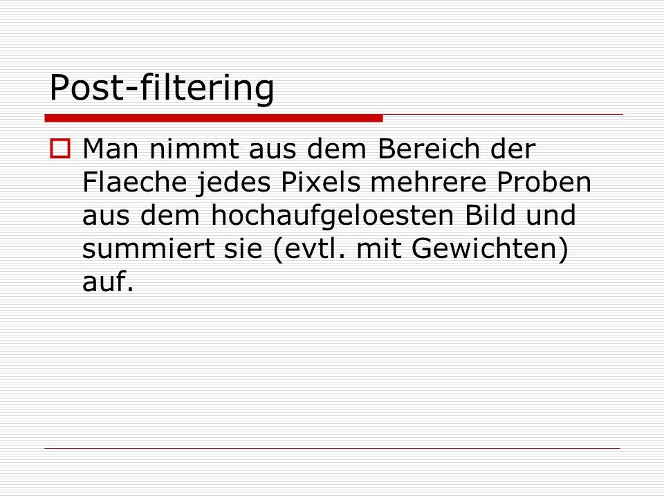 Post-filtering