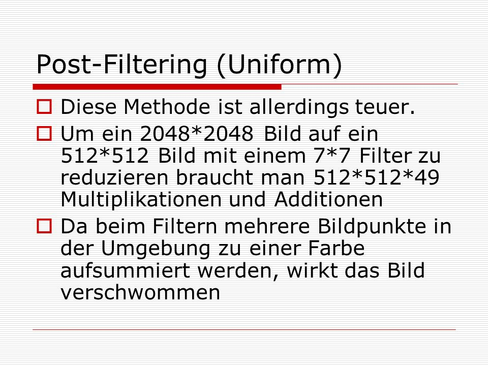Post-Filtering (Uniform)