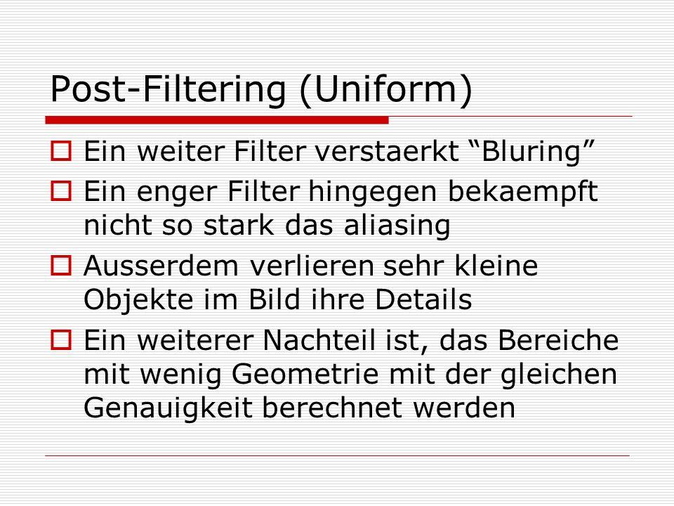 Post-Filtering (Uniform)