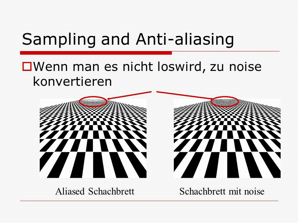 Sampling and Anti-aliasing