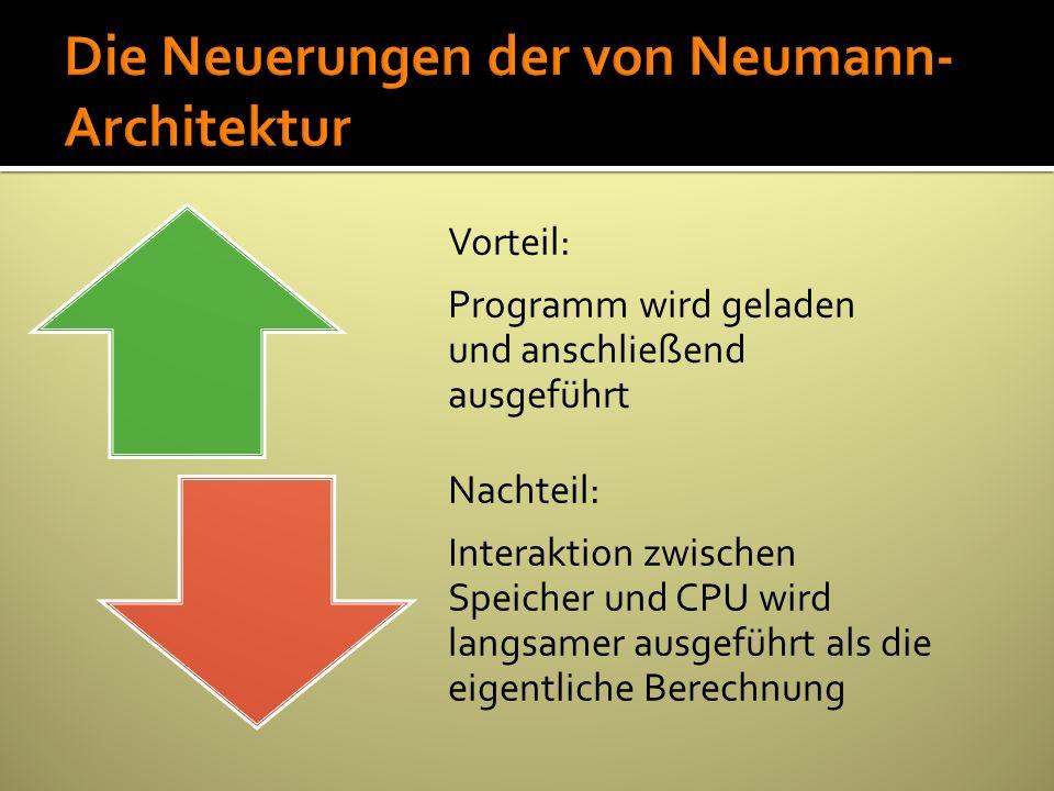 Die Neuerungen der von Neumann-Architektur