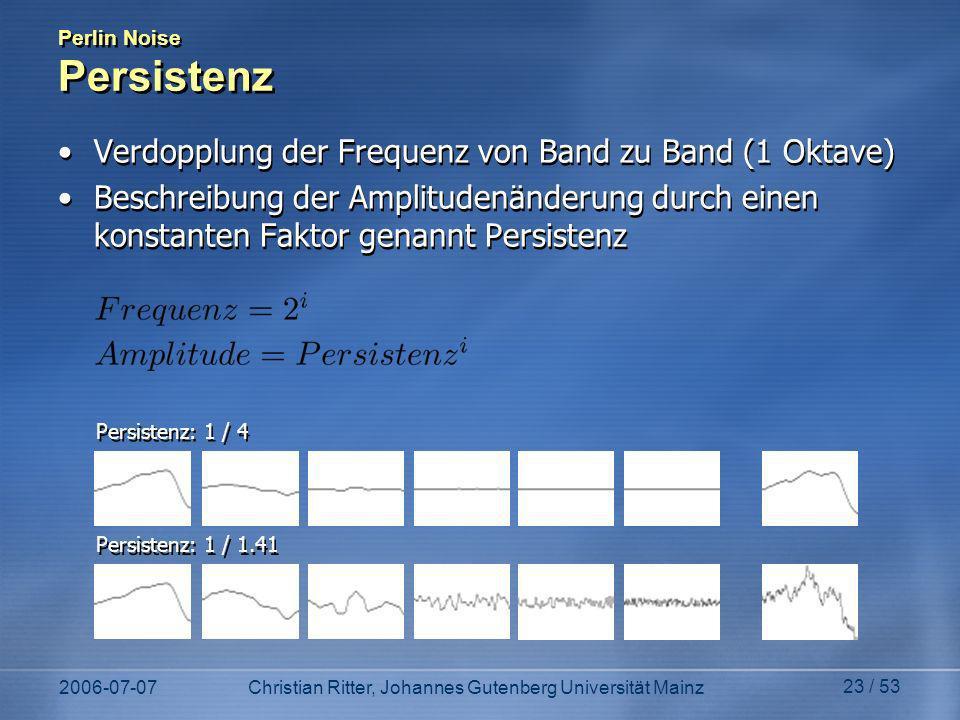 Perlin Noise Persistenz