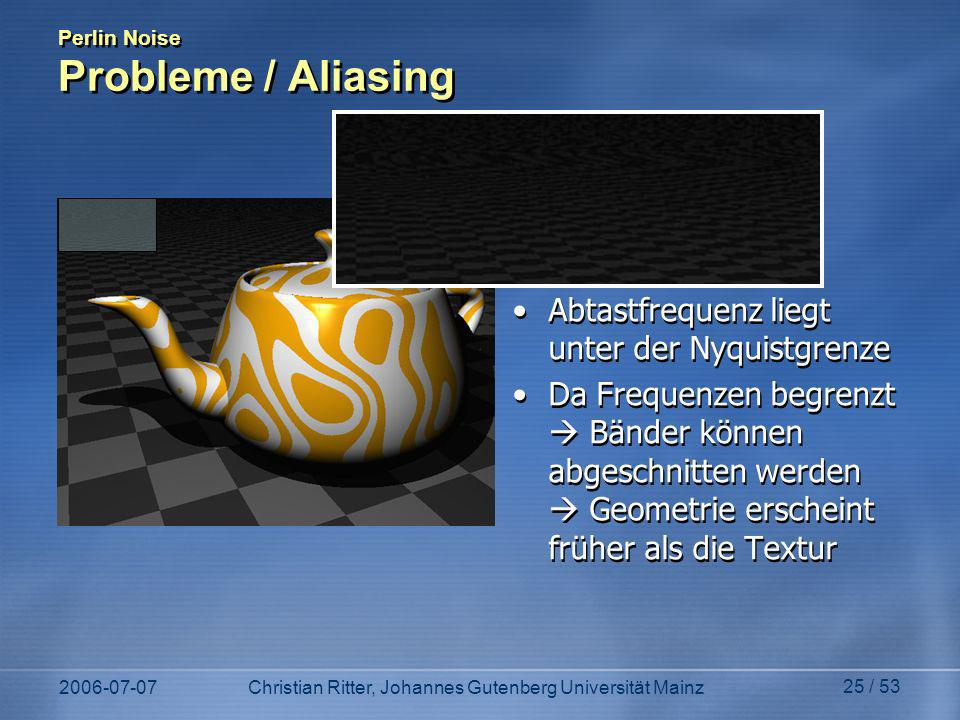 Perlin Noise Probleme / Aliasing