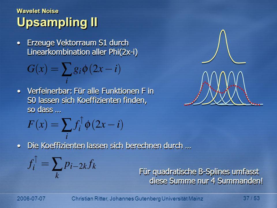 Wavelet Noise Upsampling II