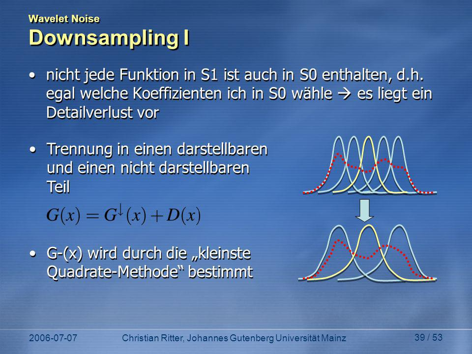 Wavelet Noise Downsampling I