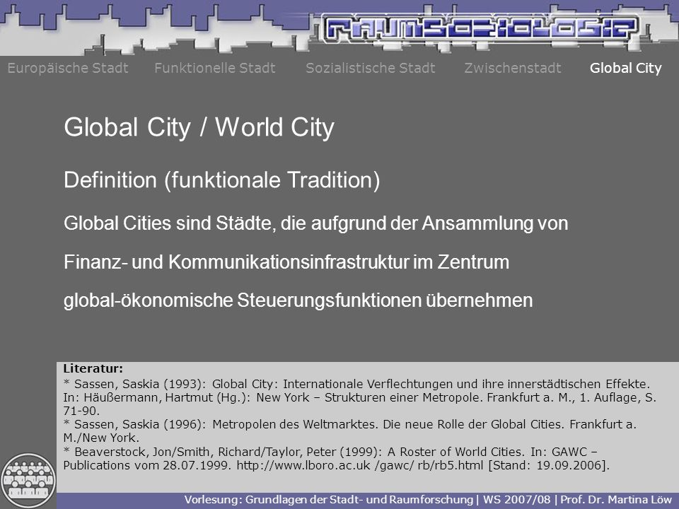 Global City / World City