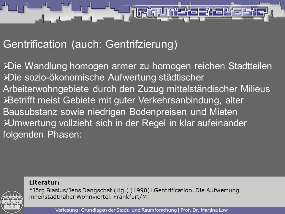 Gentrification (auch: Gentrifzierung)