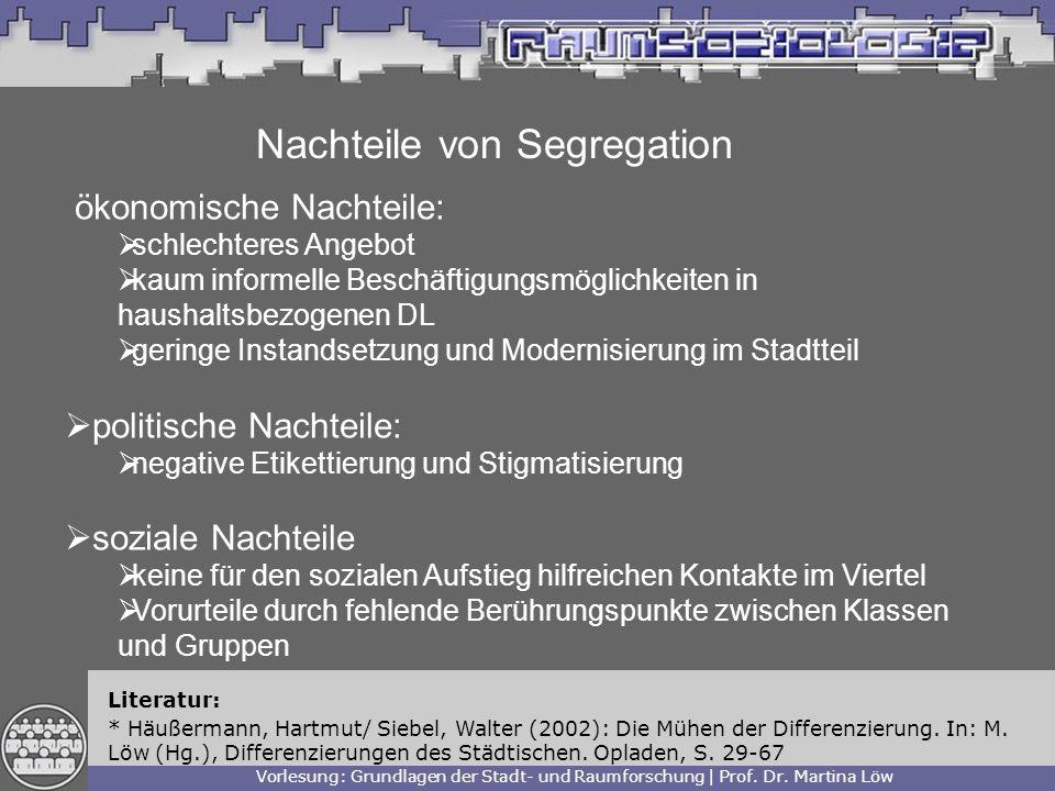 Nachteile von Segregation