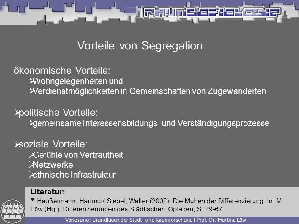 Vorteile von Segregation